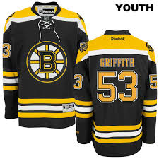 Jersey Home Youth Bruins Stitched Seth Black Authentic Griffith No Reebok Boston 53 Nhl