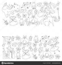 Kleurplaat Voor Boek Schattig Prinsesje Met Eenhoorn En Draak