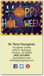 Halloween Business Cards Halloween Words Appointment Business Card Smartpractice Dental