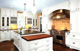 white cabinets with wood countertops country kitchen breakfast intended for designs 17