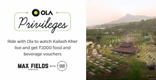 Show your Ola invoice. Win vouchers at the Max Fields festival |