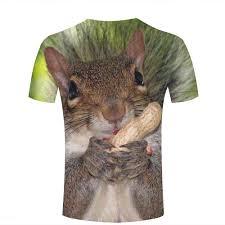 Amazon Com Men 3d T Shirts Peanut Squirrel Plus Size