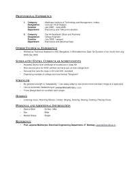 Personal Interest Resume Interest In Resume Sample Ndtech Xyz