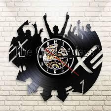 1piece rock n roll vintage vinyl lp record wall clock rock music modern decorative on rock n roll wall art with 1piece rock n roll vintage vinyl lp record wall clock rock music