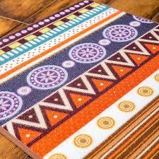 novelty door mat rug porch patio floor decor living room carpet mat indian geometric aztec pattern 50x120cm
