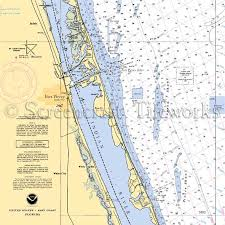 Florida Depth Chart Florida Fort Pierce Indian River St Lucie Nautical Chart Decor