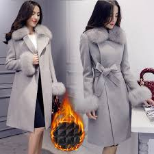 2019 <b>SWYIVY</b> Women'S Wool <b>Coat Fur</b> Autumn/Winter Elegant ...