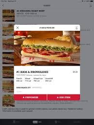 jimmy john s sandwiches on the app