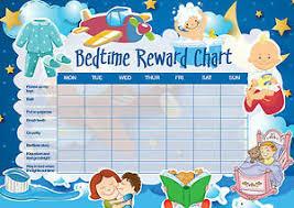 Bedtime Reward Chart Details About A5 Print Children S Bedtime Reward Chart Includes Smiley Face Stickers Kids