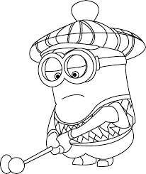 Coloring Pages Minion Colouring Sheets To Print Free Printable