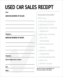 Used Car Receipt Magdalene Project Org