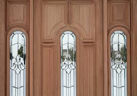 Architecture: Entry Door With Sidelights In Cream With Glass Touching