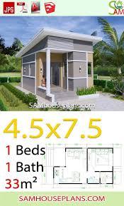 one bedroom shed roof sam house plans