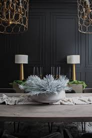 our bold black dining room reveal styled for