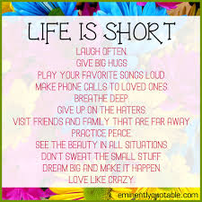 Don T Sweat The Small Stuff Quotes New Life Is Short ø Eminently Quotable Quotes Funny Sayings