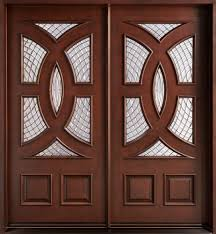 front double doorsdark brown mahogany and glass Double Entry Doors of Entrancing