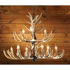 antler chandeliers real