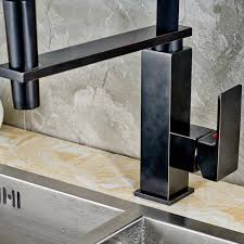 hammer kitchen faucet oil rubbed bronze finish squares stand deck bar mounted