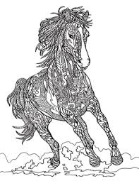 Christmas Horse Coloring Pages At Getdrawingscom Free For
