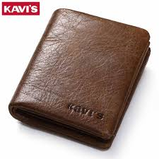 kavis coin purse genuine leather wallet men male purse small walet portomonee rfid portfolio slim fashion money bag magic purses and wallets