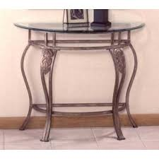 half moon table. Hillsdale Bordeaux Half Moon Glass Console Table In Bronze Pewter - 40544OC From BEYOND Stores U