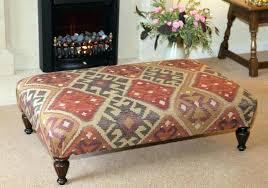 lovely rug upholstered ottoman teh