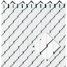 Top Locking Pexco Top Locking Slats 82 White Chain Link Fence Privacy Slat At