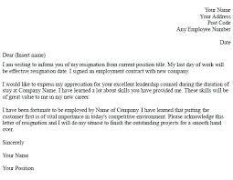 Example Of Resign Letter Resignation Letter Examples Teacher