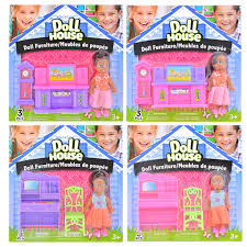 mini furniture sets. + African-American Mini Dolls With Doll House Furniture Sets