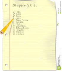 Shopping List On Yellow Paper Stock Vector - Illustration Of ...