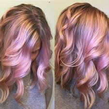 Color Design Hair Colour Iridescent Pink And Rose Gold Hair Color Design By