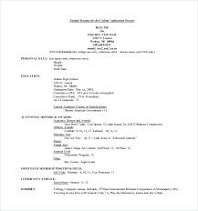 College Application Resume Examples Classy Applicant Resume Sample College Admission Resume Resume Examples For