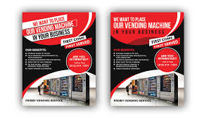 Vending Machine Company Extraordinary Entry 48 By Siambd48 For Design A Flyer For A Vending Machine