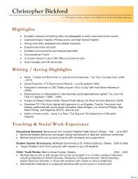 Sample Maintenance Resume Awesome Modern High School English