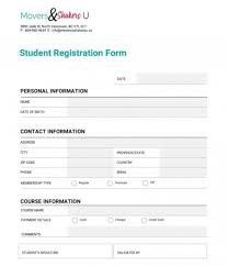 011 Registration Form Template Word Forms Templates