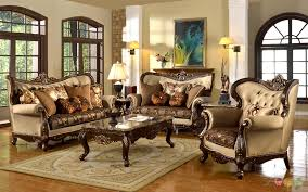 living room antique furniture. Antique Style Traditional Wing Back Formal Living Room Furniture Set Tan Brown