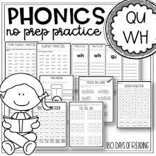 These phonics worksheets are simple and ideal for beginners. Wh And Qu Worksheets By 180 Days Of Reading Teachers Pay Teachers
