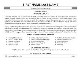 Resume For Financial Analyst Inspiration Financial Analyst Free Sample Resume Resume Examples Canreklonecco