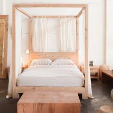 Wonderful Wood Canopy Bed Frame King Photo Ideas