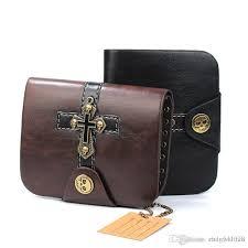 men wallet punk cross skull purses vintage leather mens wallet gothic short card holders carteira purse brown leather wallet buxton wallet from chaowalmai