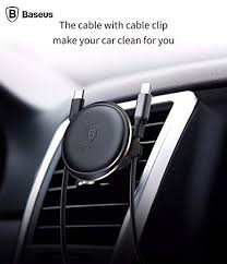 <b>Baseus Magnetic Air Vent</b> Car Mount Holder with Cable: Amazon.in ...