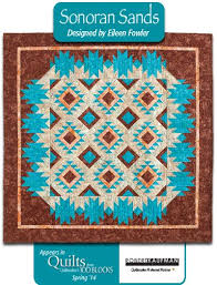 Best 25+ Southwest quilts ideas on Pinterest | Indian quilt, Quilt ... & Still More Quilts: QM Rocks the Blocks. Sonoran Sands in fabrics from  @RobertKaufmanFabrics Adamdwight.com