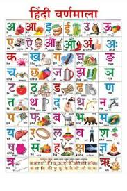 Hindi Varnmala Chart Kids Learning Wall Chart Hindi Alphabet For Children Educational Poster 100yellow Paper Print