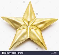 Goldener Stern Christbaumschmuck Stockfoto Bild 279206510