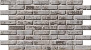 sample dirty white faux brick wall