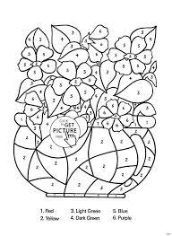 Math Worksheets Coloring Escueladeasociacionescom