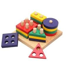 child puzzle wooden geometry intelligence board baby toy shape set column geometry shape blocks baby child