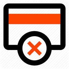 Card Credit Card Debit Card Delete Insufficient Funds Remove
