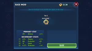 Swgoh Mods 2 0 Tips For Slicing Mods To 6e Gaming Fans Com