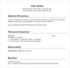 Chronological Resume Simple Chronological Resume Template Free Samples Examples Format Sample